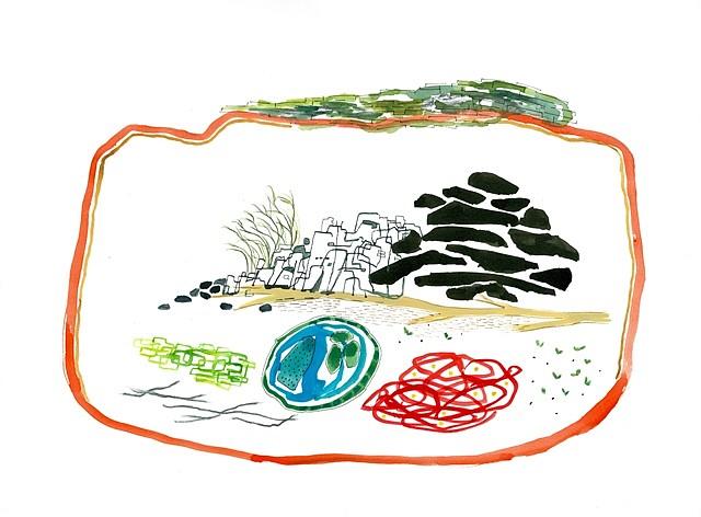Ilyana Martinez, Sea Narrative 2012, watercolor, gouache, ink and pencil on paper