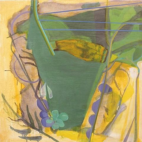 Julian Hatton, Lyre 2008, oil on canvas