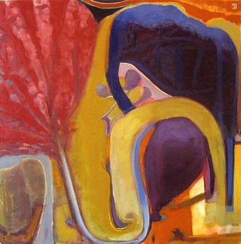 Julian Hatton, Yoga 2006, oil on canvas