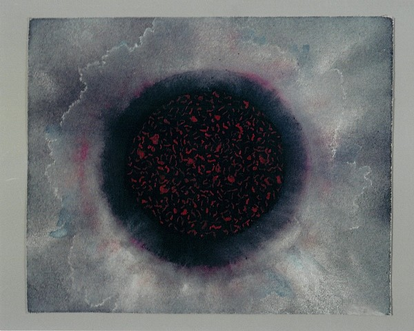 Oriole Feshbach, Coals for the World's Burning 2010, watercolor on sandpaper
