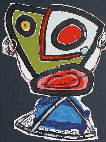 Paul Du Toit, Ancient Tattoo Masks 2011, oil, oil paint sticks and acrylic on canvas