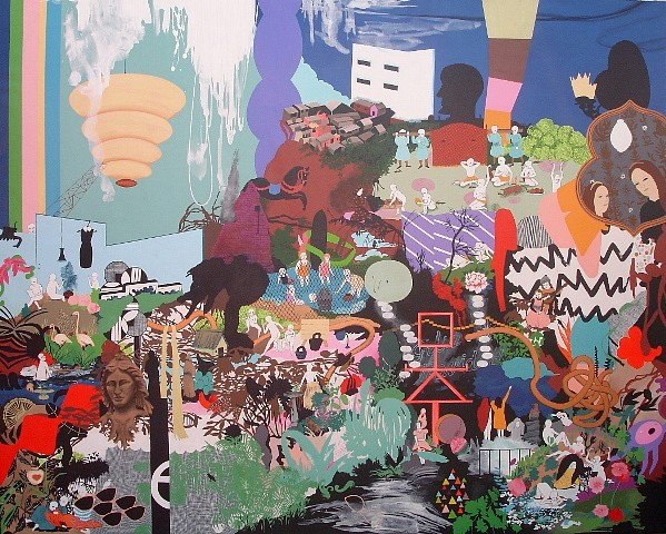 Paula Otegui, The Mining of Things 2013, acrylic on canvas