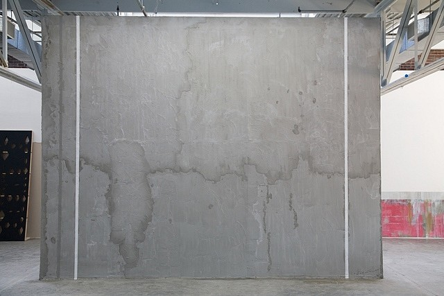 Karyn Olivier, Handball 2009, hand-made handball court using concrete, studs, foamboard and handball