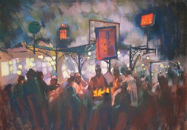 David Napp, Stand 32, La Place 2010, pastel on special pastel card