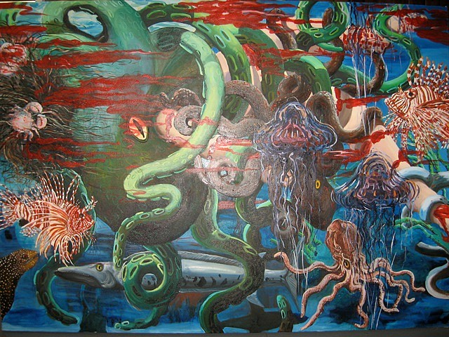 Heidi Johnson, Dangers of Fishing 2011, oil on canvas