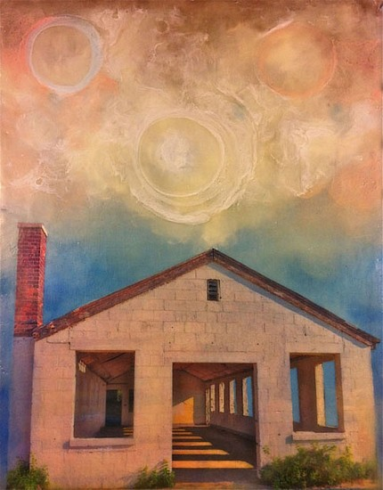 Melissa Rubin, My Temple 2012, encaustic, mixed media on wood