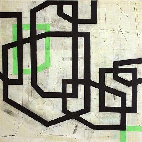 Steven Baris, Somewhere Beyond or Behind #D8 2011, oil on Mylar