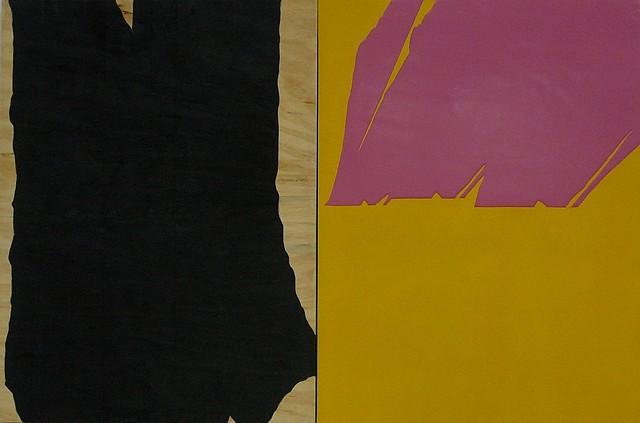 Suparirk Kanitwaranun, Shadow and Simulation Painting No. 2 2006, Burnt wood and polyester
