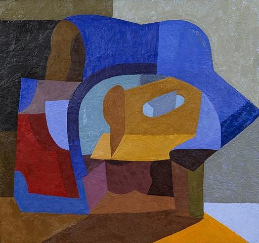 Logan Grider, Veil 2011, encaustic on panel