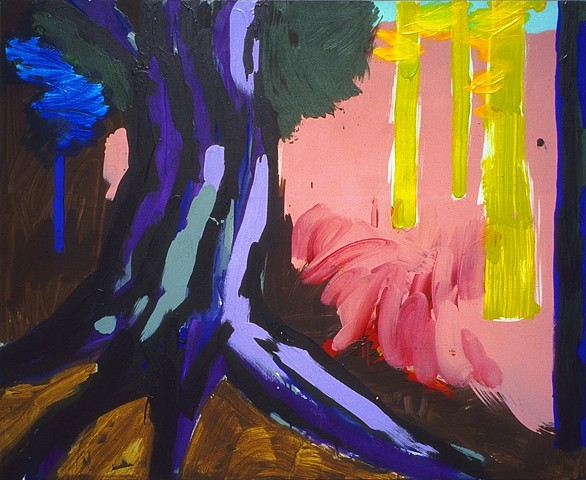 Dean Fleming, Pine and Aspen #1 2004, acrylic on canvas
