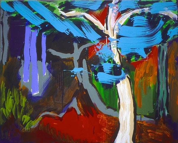 Dean Fleming, Four Directions Forest 2004, acrylic on canvas