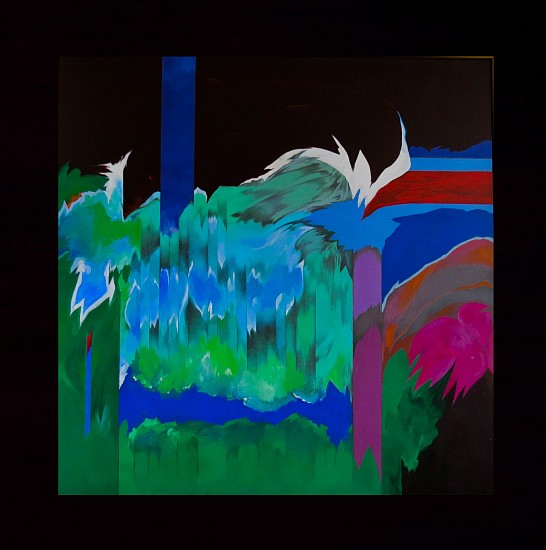 Sonia Gechtoff, Garden, Wave and Waterfall 2000-2010, acrylic on canvas