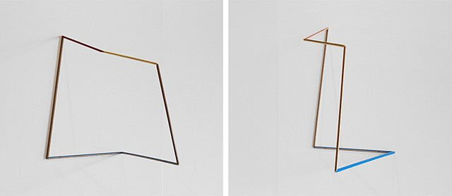 Maggie Madden, Drawing 1 2013, wooden picture frames, glue