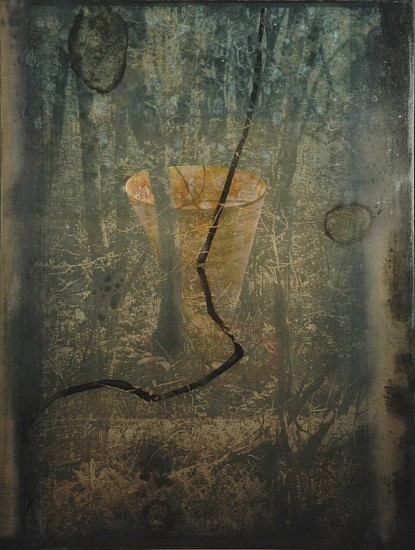 Timothy McDowell, Watershed 2012, oil, alkyd, cyanotype on wood panel