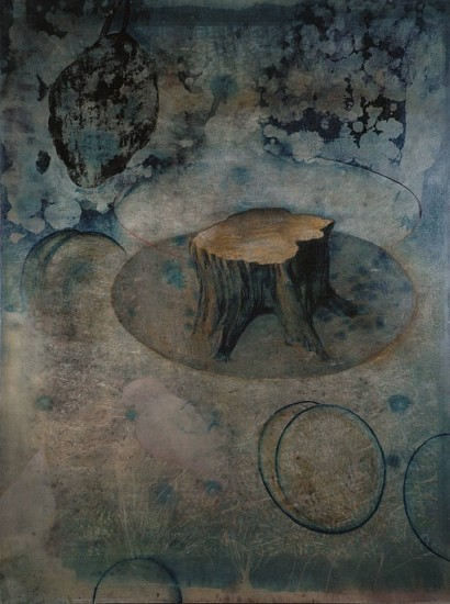 Timothy McDowell, If Not for the Birds and Bees 2012, oil, alkyd, cyanotype on wood panel