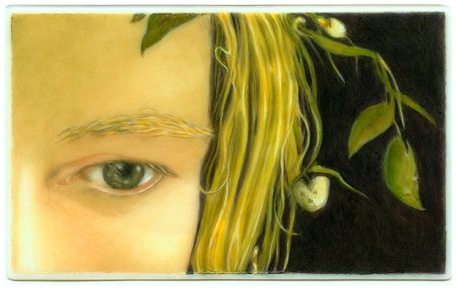 Tabitha Vevers, Lover's Eye I: Helga (after Wyeth) 2013, oil on Ivorine