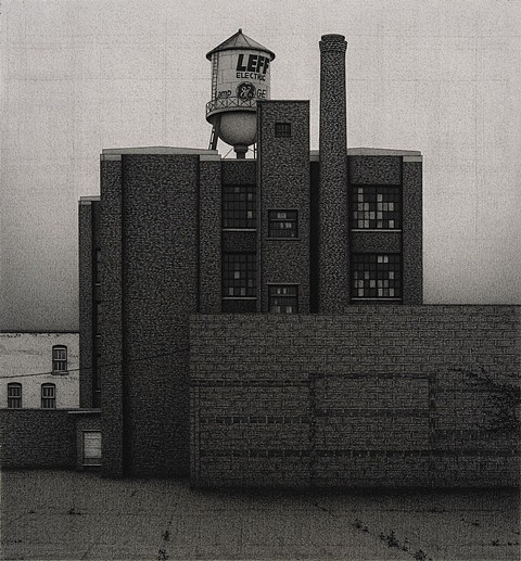 Anthony Mitri, Leff Electric Company, Cleveland Ohio 2012, charcoal on paper