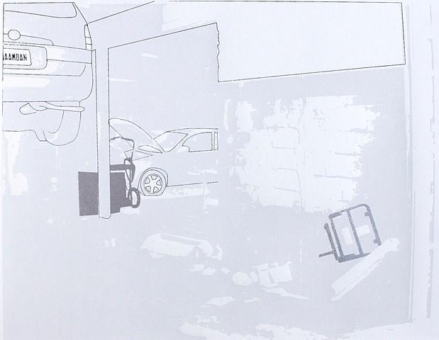 Toby Millman, Bangla Motors 2012, 3-color screenprint