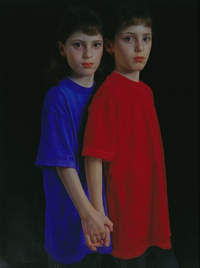 Bill Vuksanovich, Sisters II 2006, color pencil, nero pencil on paper