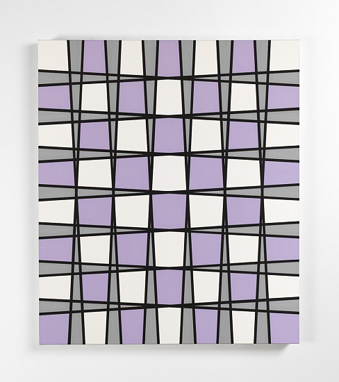 John Franklin, Not Titled (Purple Vibra Painting) 2008, vinyl acrylic paint, gesso on cotton