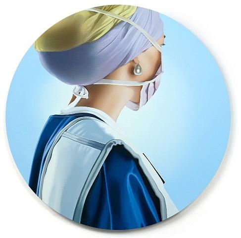Tania Blanco, Nurse with a Pearl Earring 2010, acrylic on wood