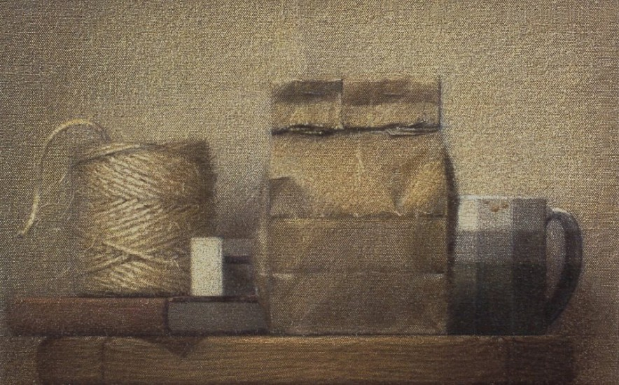 Robert Kogge, Still Life with a Light 1996, colored pencil and wash on canvas