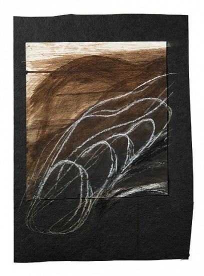 Lori Nozick, Flow 2010, mud pigments and chalk on tarpaper