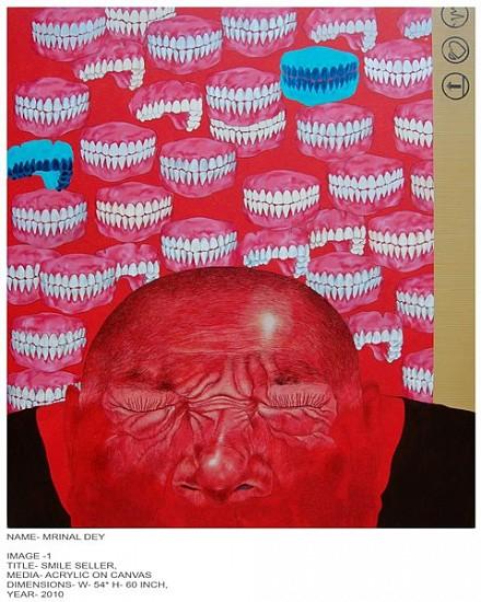 Mrinal Dey, Smile Seller 2010, acrylic on canvas