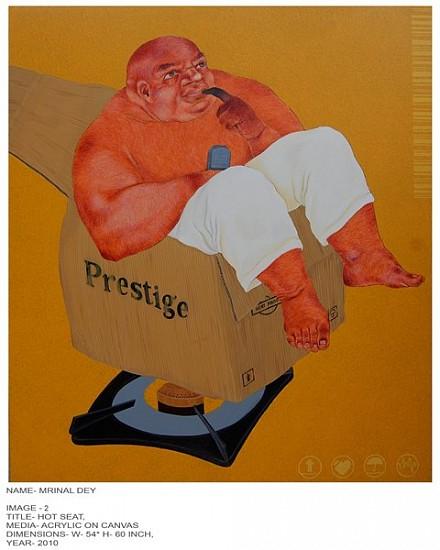 Mrinal Dey, Hot Seat 2010, acrylic on canvas