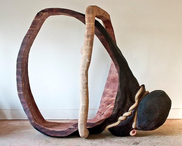 Rachel Rotenberg, Black Magic 2012, cedar, vine, oil paint