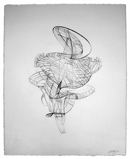 Colin Goldberg, Wireframe Drawing #1 2011, graphite pencil drawing on Rives BFK paper
