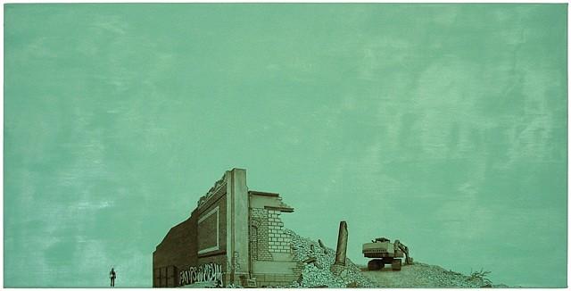 Hendrik Krawen, Trianon Ecke 2012, oil on canvas