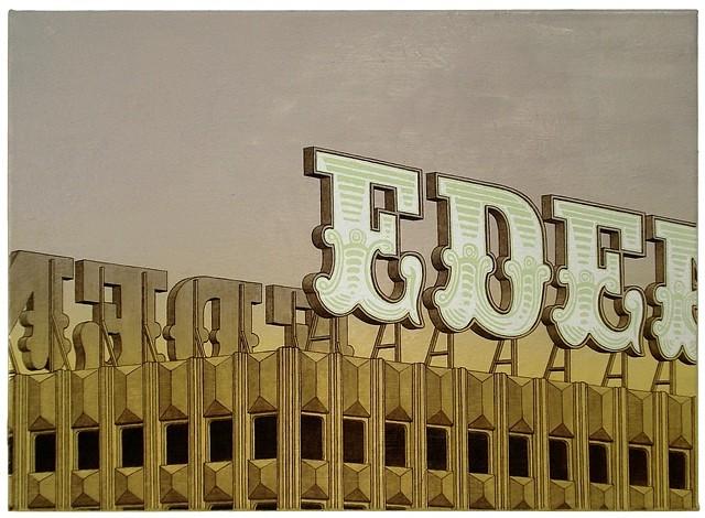 Hendrik Krawen, Edenhouse 2012, oil on canvas