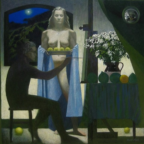 David Loeb, Blue Moon Muse 2010, oil on canvas