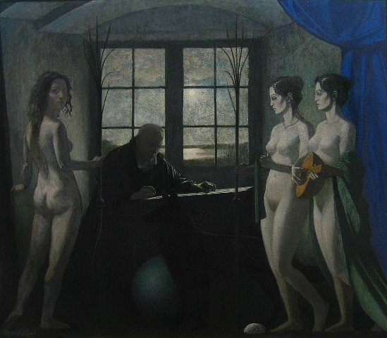 David Loeb, Artist & Muses 2010, oil on canvas