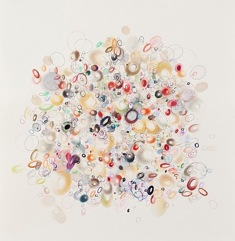 Enid Williams, Repurposed 2011, prisma pencil and mixed media on museum board