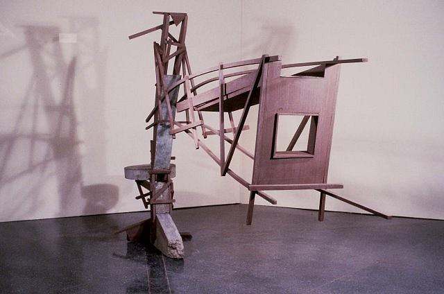 William Brayton, Crane 1987, wood, steel, concrete