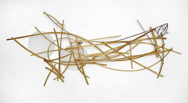 William Brayton, Pali 2013, white oak, bronze, acrylic, Braytoncrete