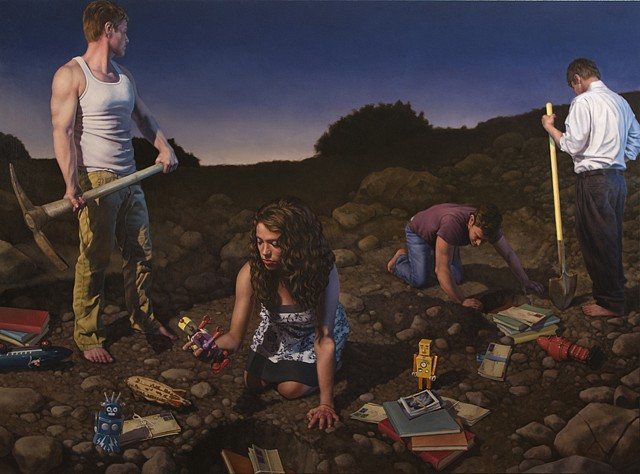 Robert Schefman, Collected Knowledge 2012, oil on canvas