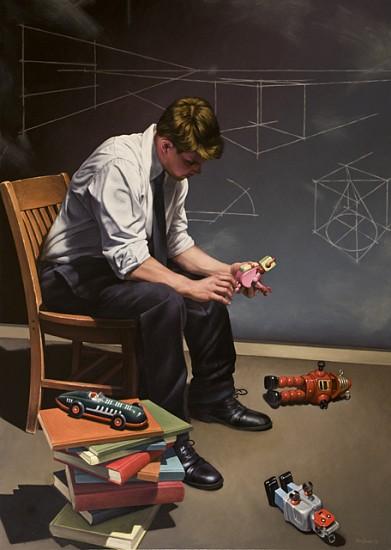 Robert Schefman, Science of Structure 2012, oil on canvas