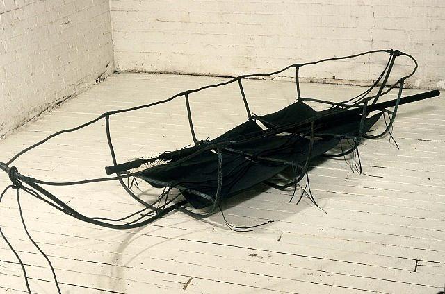 Nancy Clark, Desuetude 1987, copper, patina, canvas, wood