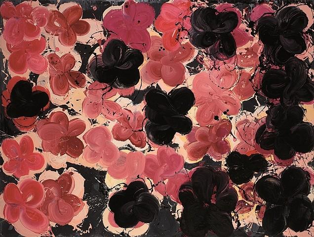 Tomasz Milanowski, Flowers 2008, oil on canvas