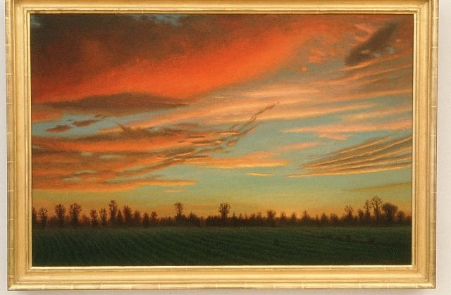 John Beerman, Red Clouds, Claremont 2 1996, oil on canvas