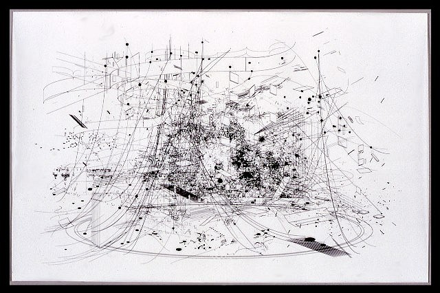 Marsha Cottrell, Landscape.1 2005, unique electrostatic print on mylar