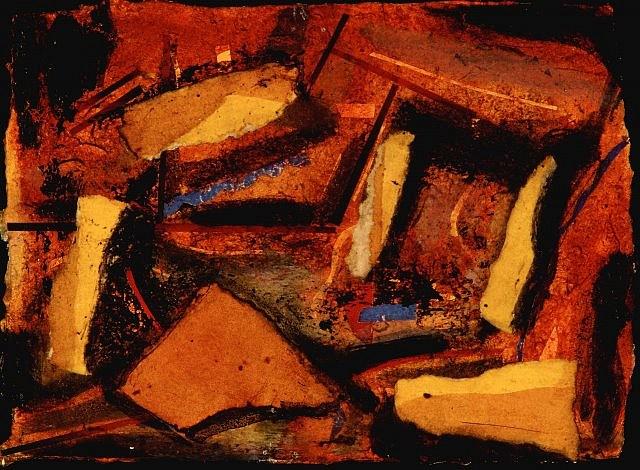 Oisin Breatnach, Cave Drawing 1994, mixed media