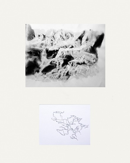Vicky Colombet, Dialogue #32 2012, charcoal and pigment on vellum - ink on paper