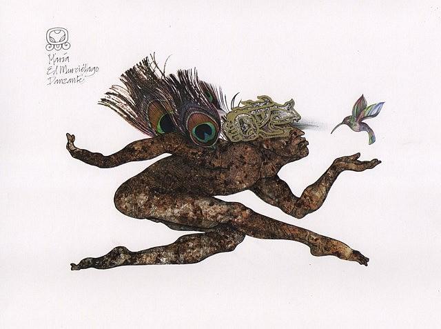 Maria Aguilar Balsells, Baktun I 2012, ink drawing on digital art