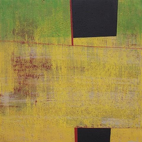 Silvia Lerin, Verde creciente 2008, mixed media on canvas