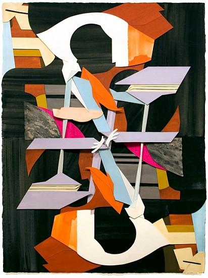 Jim Gaylord, Mirror Repair 2013, gouache on cutout paper
