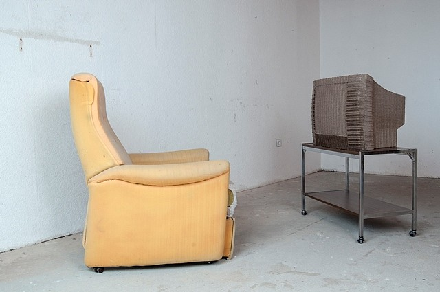 Andreas Sell, Panic Attack Antidepressant Household Clearance 9 2013, tv, armchair, table